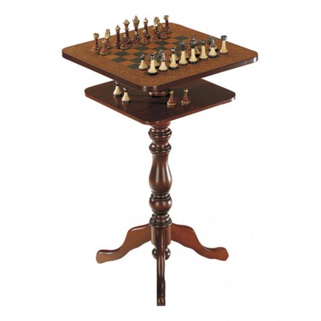 Шахматный столик квадратный 43*43 см, h=69 см.