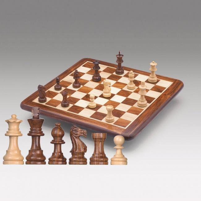 Шахматная доска, палисандр, 38x38см