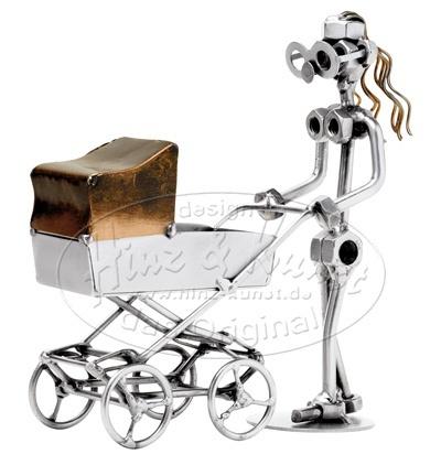 Мама с коляской, h=17см