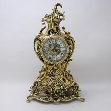 """Часы бронзовые каминные с маятником """"Ласу"""" 40*24*16 см."""