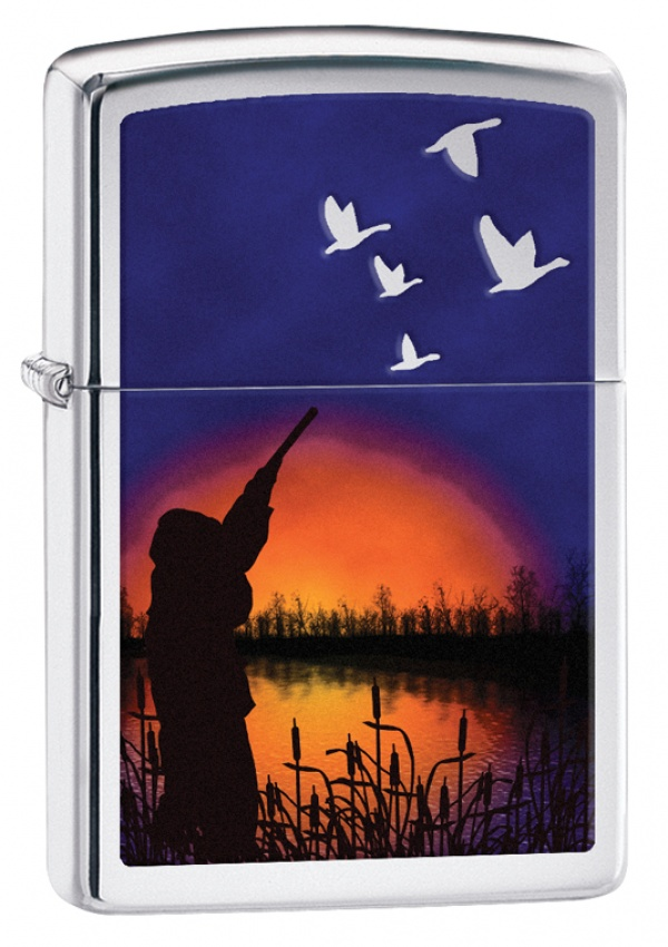 Зажигалка ZIPPO Classic с покрытием High Polish Chrome, латунь/сталь, серебристая, 36x12x56 мм