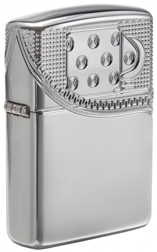 Зажигалка ZIPPO Armor® с покрытием High Polish Chrome, латунь/сталь, серебристая, 37х13x58 мм