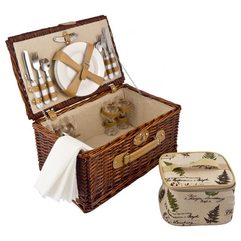 Набор корзина для пикника на 4 персоны 47*22*45см