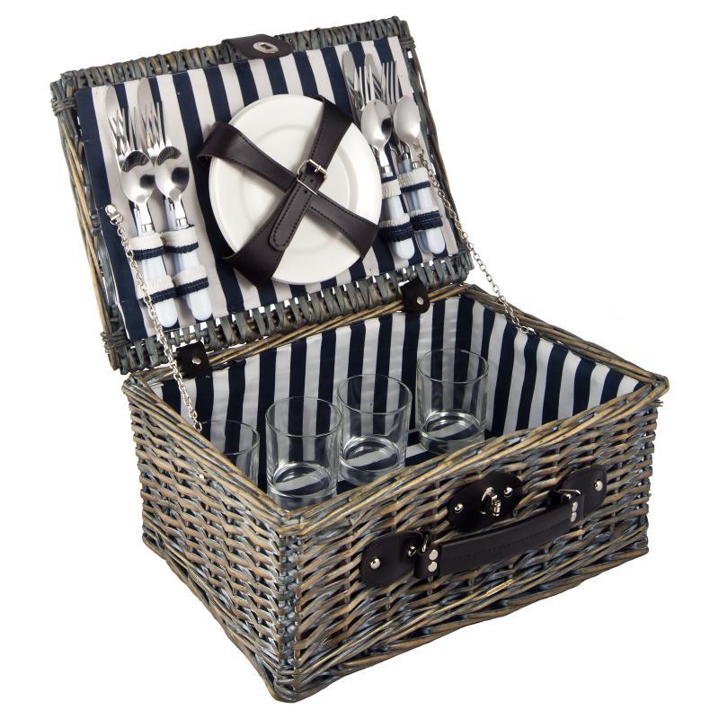 Набор корзина для пикника на 4 персоны 40*30*19см