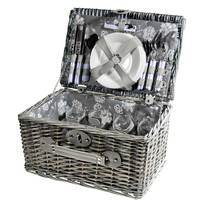 Набор корзина для пикника на 4 персоны 40*28*22 см.